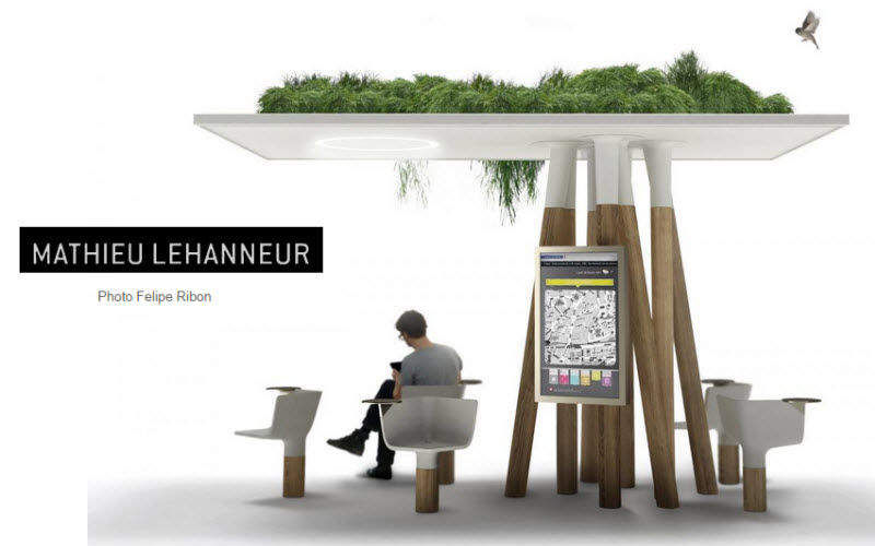 MATHIEU LEHANNEUR Bus shelter Shelters and summer houses Garden Gazebos Gates...  |