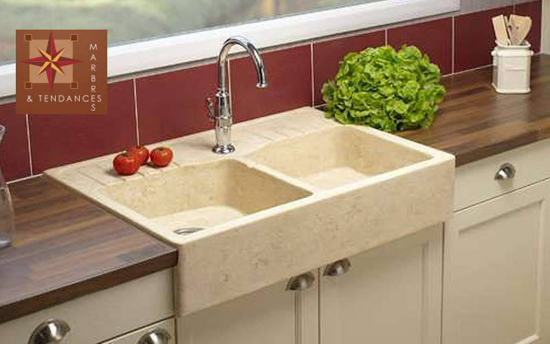 Marbres et Tendances Double sink Sinks Kitchen Equipment  |