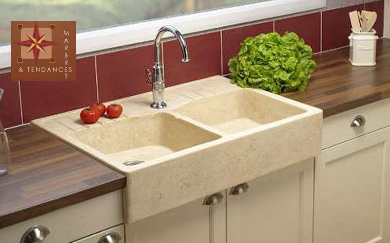 Marbres et Tendances Double sink Sinks Kitchen Equipment  |