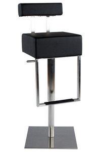 KOKOON DESIGN - tabouret de bar en similicuir noir rembourré et re - Bar Chair