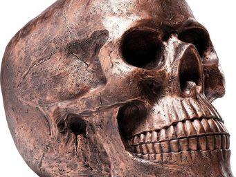 Kare Design - deco skull head antique cuivre - Figurine