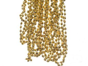 Kaemingk - guirlande de perles couleur or clair - Christmas Garland