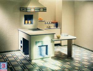 Emaux de Briare - progression - Mosaic Floor Tile