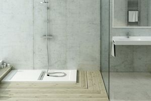 Inset shower tray