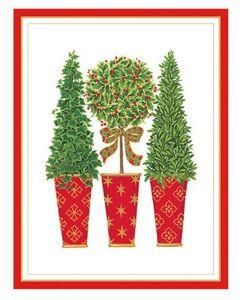 Caspari Christmas card