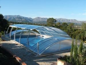 Abri piscine POOLABRI - baseo - Low Removable Pool Enclosure