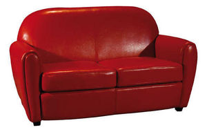 INWOOD - canapé 2 places maya rouge en bycast 150x93x84cm - 2 Seater Sofa