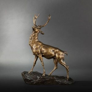 Expertissim - thomas-françois cartier (1879-1943). cerf - Animal Sculpture