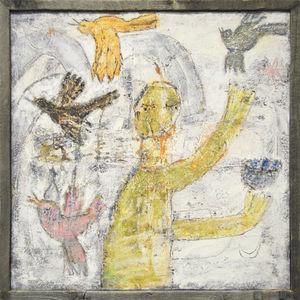 Sugarboo Designs - art print - man juggling birds - Decorative Painting