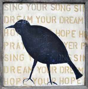 Sugarboo Designs - art print - bird silhouette (crow) - Decorative Painting