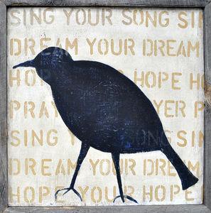 Sugarboo Designs - art print - bird silhouette (crow) - Decorative Painting