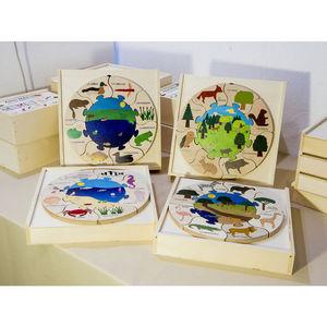 ANIM'EN BOIS - puzzle milieu naturel mare (2-5 ans) - Wooden Toy