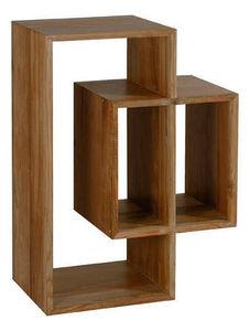 INWOOD - rangement 3 niches majestic en teck recyclé 80x35x - Shelf
