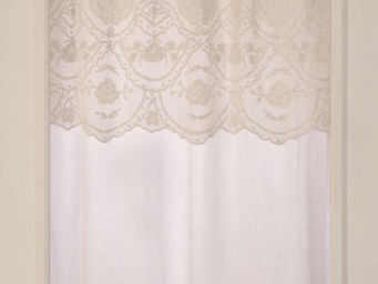 Coquecigrues - rideau � cantonni�re b�guine ivoire - Ready To Hang Curtain