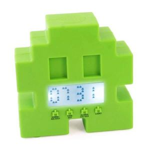 123 IDEE CADEAU - space alien - Children's Alarm Clock