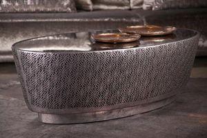 Estetik Decor - karamel - Oval Coffee Table