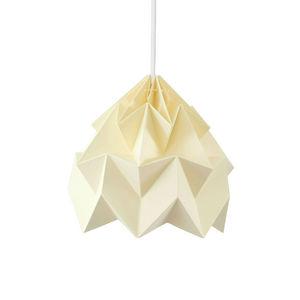 SNOWPUPPE - moth - suspension papier jaune pastel ø20cm | susp - Hanging Lamp