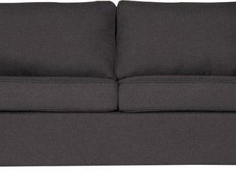 WHITE LABEL - canapé 2 places convertibles coloris gris anthraci - 2 Seater Sofa