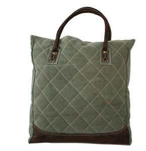 BYROOM - quilt green  - Handbag