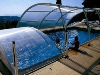 Abrideal - primo version romane - Low Removable Pool Enclosure