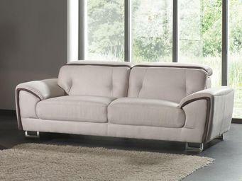 WHITE LABEL - canapé 3 places - souly - l 213 x l 99 x h 71 - mi - 2 Seater Sofa