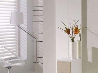 WHITE LABEL - meuble d\'entrée blanc/chêne clair + miroir - sir -