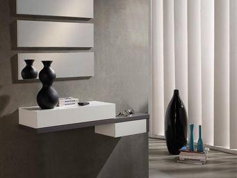 WHITE LABEL - meuble d\'entrée cendre + miroir - ynang - l 110 -
