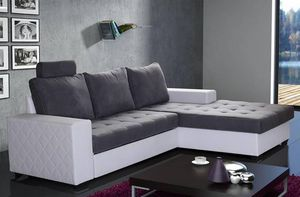 WHITE LABEL - canapé d'angle gigogne convertible express waterf - Adjustable Sofa