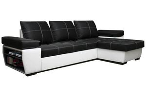 WHITE LABEL - canapé d'angle gigogne convertible express victor - Adjustable Sofa