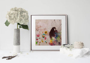 la Magie dans l'Image - print art fée d'automne - Decorative Painting