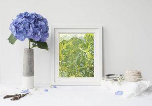 la Magie dans l'Image - print art hibiscus et roses - Decorative Painting