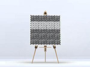 la Magie dans l'Image - toile anis blanc noir 2 - Digital Wall Coverings
