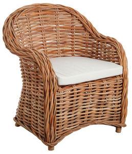 Aubry-Gaspard - fauteuil en poelet naturel - Armchair