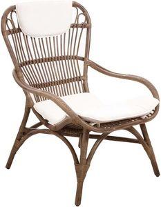Aubry-Gaspard - fauteuil en rotin gris vintage - Armchair