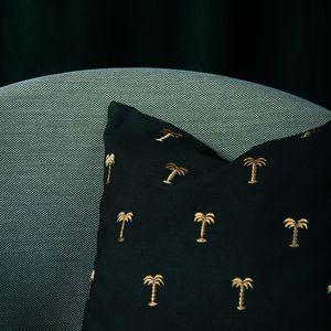 &klevering - cushion palm tree gold - Square Cushion