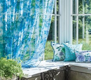Osborne & Little - water lily sheer - Net Curtain