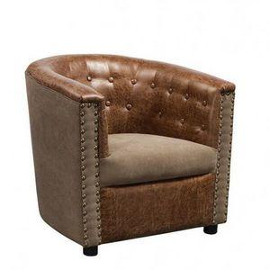 Mathi Design - fauteuil club lounge aspect cuir boston - Armchair