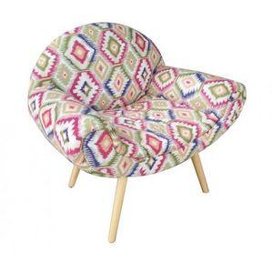 Mathi Design - fauteuil tissu coloré bohème - Armchair