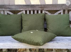 LA VILLA HORTUS - lin vert - Square Cushion
