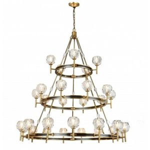ALAN MIZRAHI LIGHTING - am8120 boule suspended - Chandelier