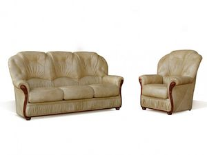 WHITE LABEL - canapé daphne - 3 Seater Sofa