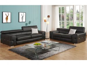 WHITE LABEL - canapé emilio - 3 Seater Sofa