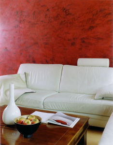 Arts Des Matieres - stuc rouge et cire teintée - Stucco