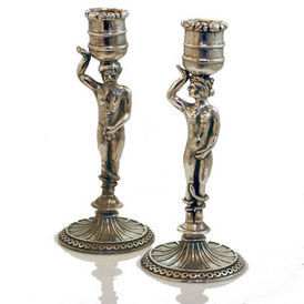 Siecle Paris - set de 2 bougeoirs adam et eve - Candlestick