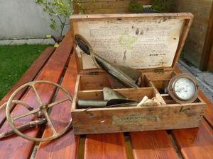 La Timonerie Antiquités marine - coffret avec loch cherub walker - Chip Log