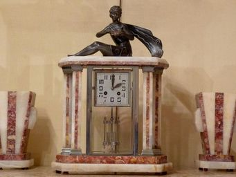 ANTIQUE GERMAIN - pendule d'epoque art deco - Portico Clock