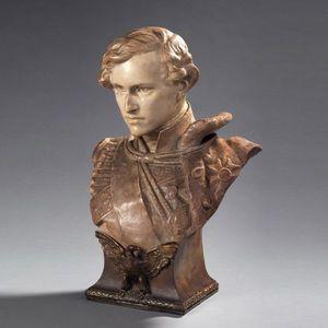 Galerie de Souzy - l'aiglon, buste en terre cuite - Bust Sculpture