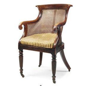3details - a regency beech bergere - Wingchair