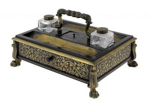 3details - george iv inkstand - Ink Pot