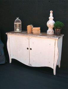 BLEU PROVENCE - vintage white - Provincal Bread Cabinet